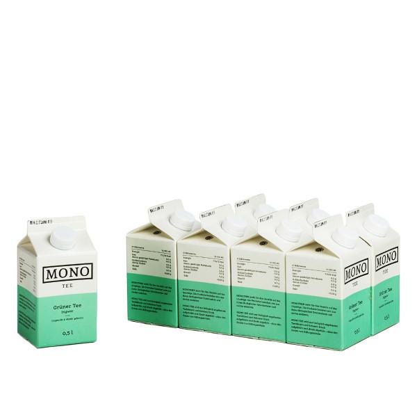 Mono Tee Grüner Tee Ingwer 8 x 0,5l