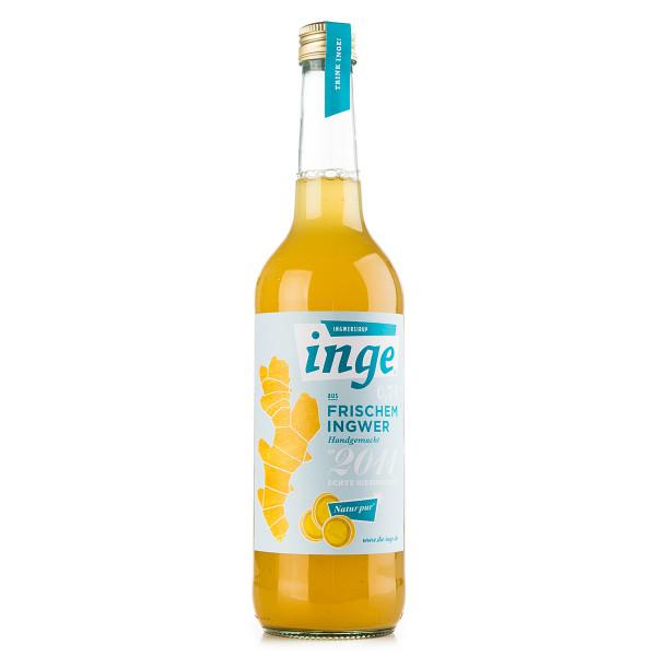 Die Inge Ingwersirup in der 1l Glasflasche