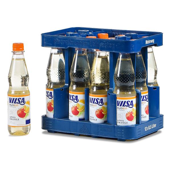 Vilsa H2Obst Apfel-Orange 12 x 0,5l PET