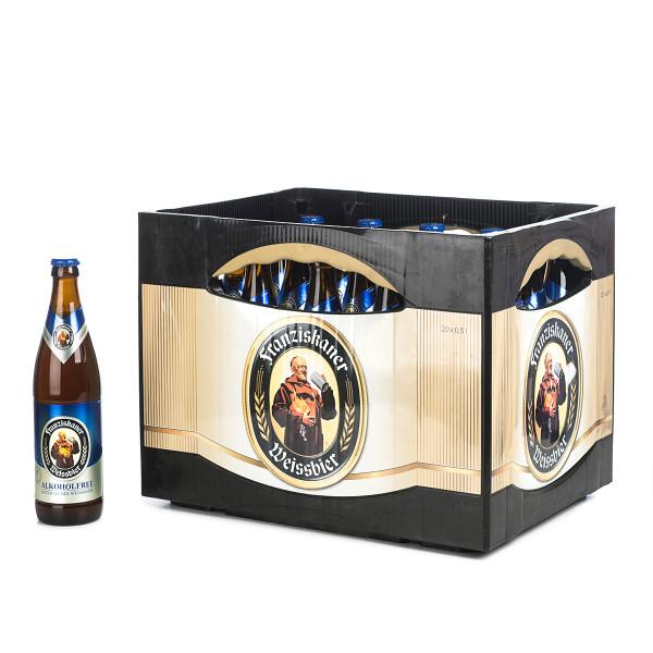 Franziskaner Weißbier Alkoholfrei in der 0,5l Glasflasche