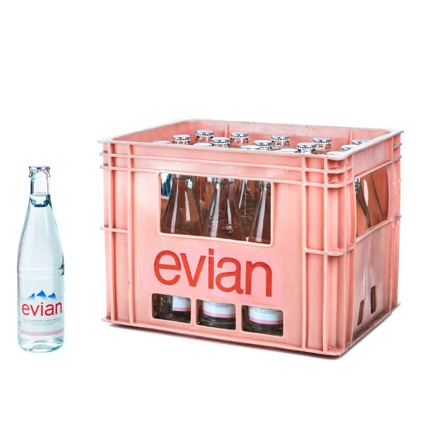 Evian 20 x 0,5l Glas