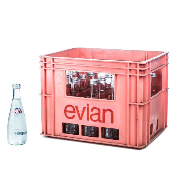 Evian 20 x 0,33l Glas