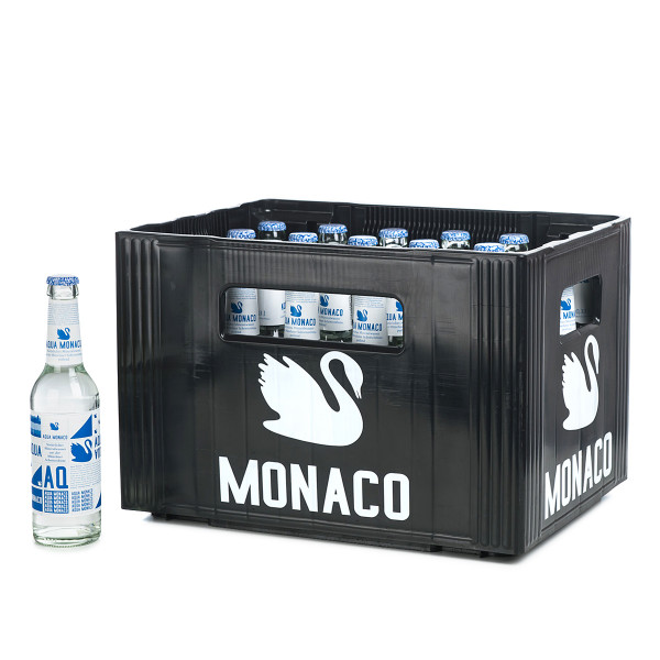 Aqua Monaco Blau klein 0,33l Glasflasche