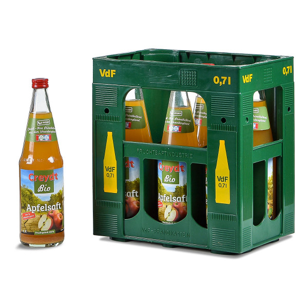 Creydt Bio Apfelsaft trüb Direksaft 6 x 0,7l