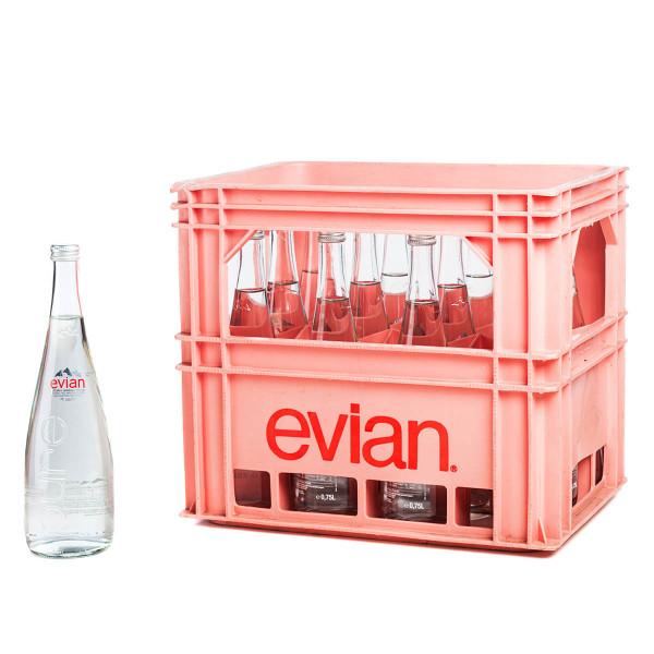 Evian12 x 0,75l Gastro Glas