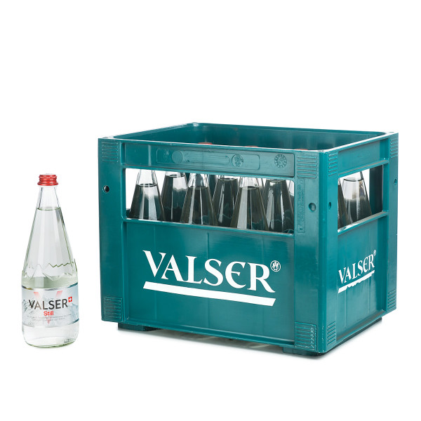 Valser Naturelle in der 1l Glasflasche
