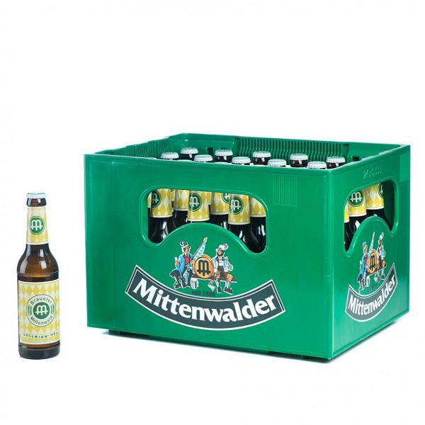Mittenwalder Vollbier Hell 24 x 0,33l