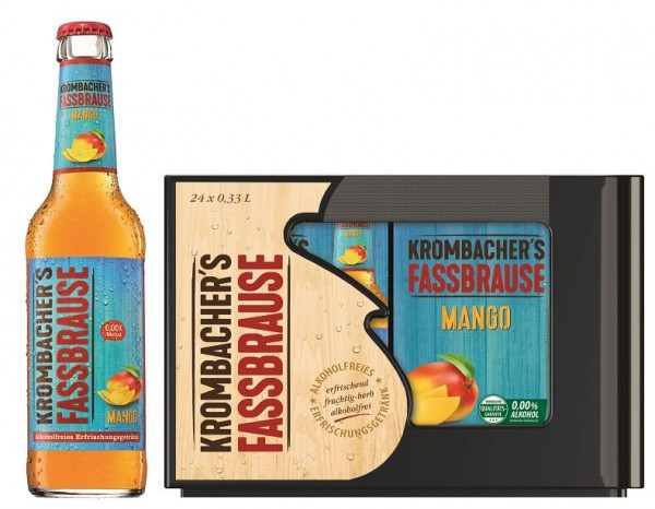 Krombacher Fassbrause Mango 24 x 0,33l