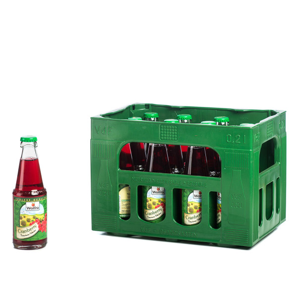 Wolfra Cranberry 12 x 0,2l