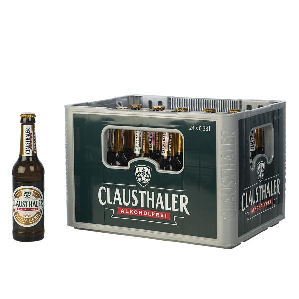 Clausthaler Extra Herb alkoholfrei 24 x 0,33l