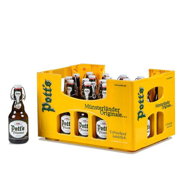 Pott's Pilsener Premium herb Bügelflasche 20 x 0,33l