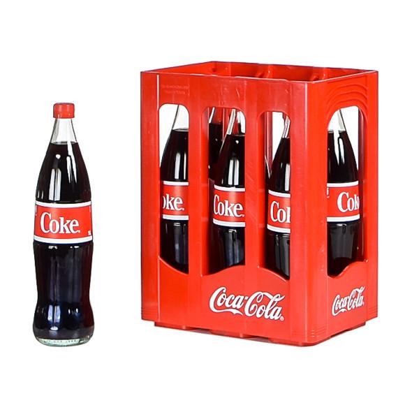 Coca Cola 6 x 1l Glas
