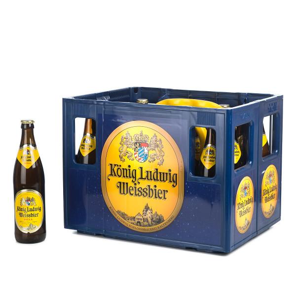 König Ludwig Helles Weißbier in der 0,5l Glasflasche