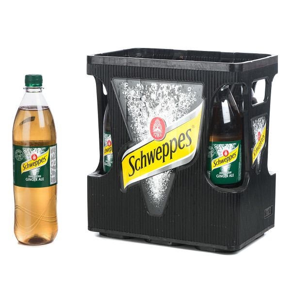 Schweppes American Ginger Ale 6 x 1l