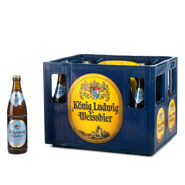 König Ludwig Weißbier naturtrüb alkoholfrei 20 x 0,5l