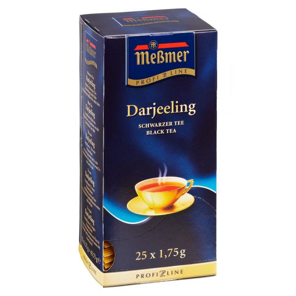 Meßmer Profi-Line Schwarzer Tee Darjeeling blumig-lieblich, 25 Teebeutel Packung