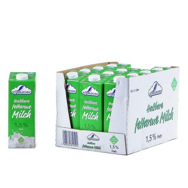 Schwälbchen H-Milch 1,5% 12 x 1l