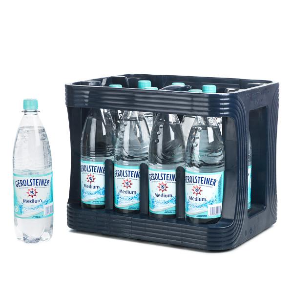 Gerolsteiner Medium Mineralwasser in der 1l PET Flasche
