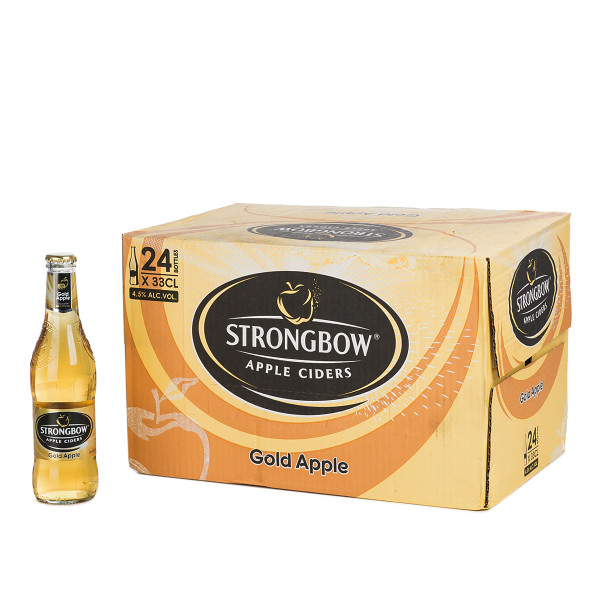Strongbow Apple Cider in der 0.33l Glasflasche
