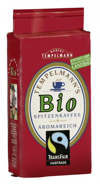 Tempelmann Bio Fairtrade Spitzenkaffee - 500 g Packung