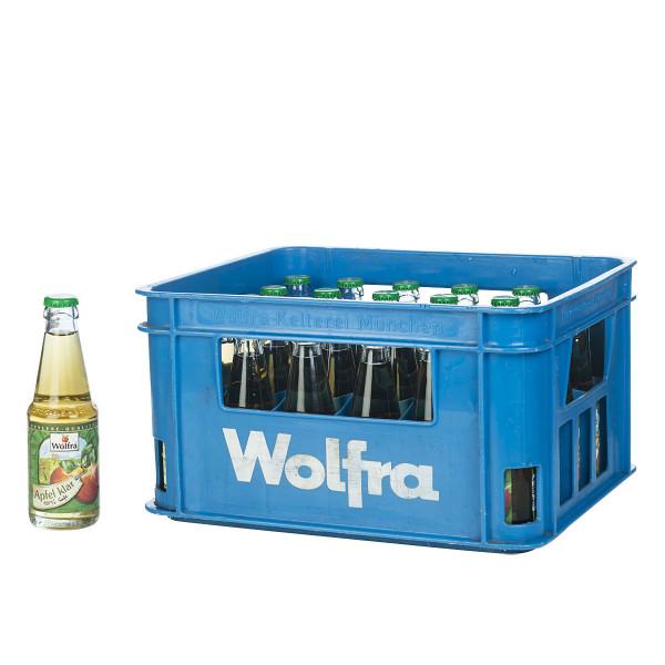 Wolfra Apfelsaft klar 30 x 0,2l
