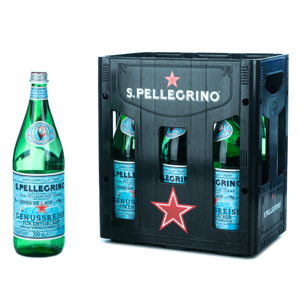 San Pellegrino Mineralwasser 6 x 1l Glas
