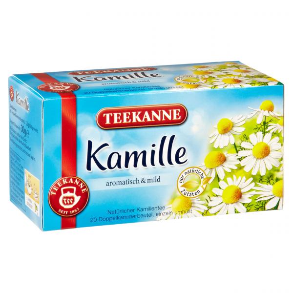 Teekanne Kräutertee Kamille Teebeutel - 12 x 30 g Karton