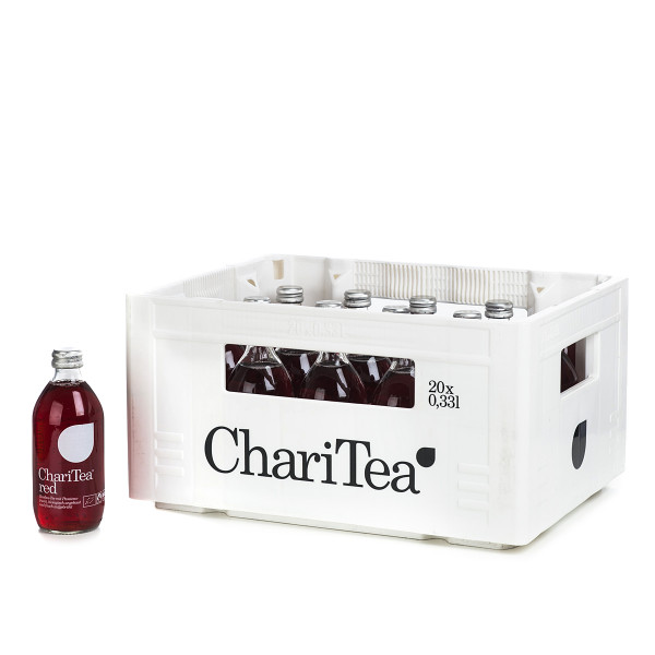 ChariTea Red in der 0,33l Glasflasche