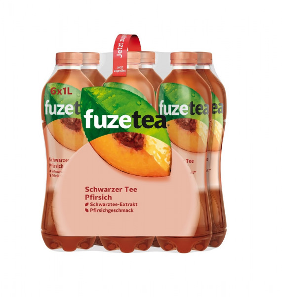Fuze Tea schwarzer Tee Pfirsich 6 x 1l PET