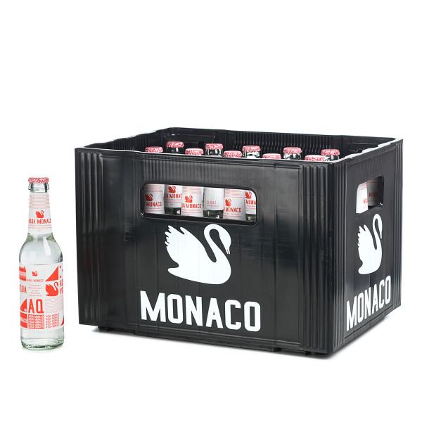 Aqua Monaco Rot klein 0,33l Glasflasche