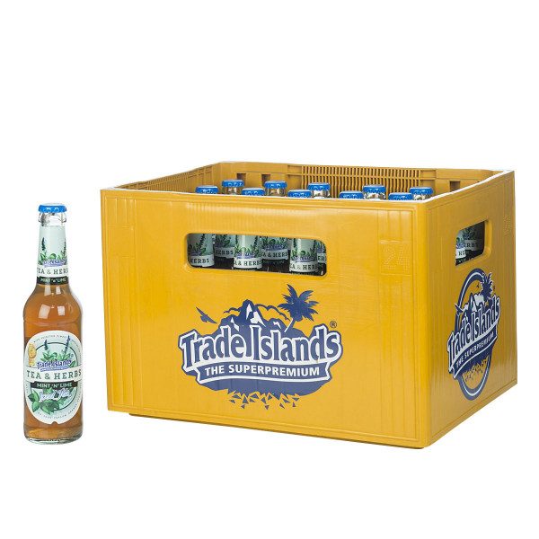 Trade Island Iced Tea Mint n' Lime 24 x 0,33l