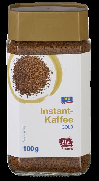 aro UTZ Instant Kaffee Gold - 100 g Tiegel