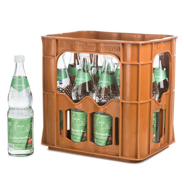 Lideinen Mineralwasser sanft in der 1l Glasflasche