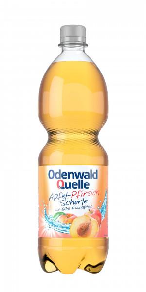 Odenwald Quelle Apfel-Pfirsich-Schorle 12 x 1l