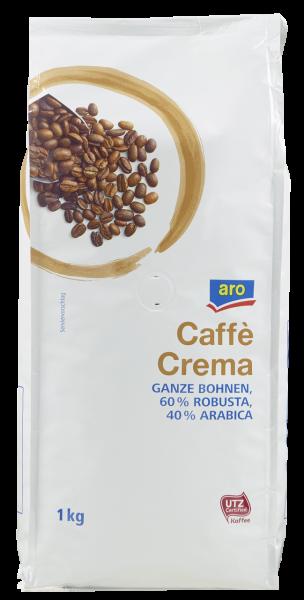aro Kaffee Crema Bohnen - 1 x 1 kg Beutel