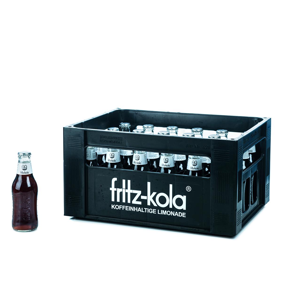 Fritz-Kola Zuckerfrei 24 x 0,2l Glas online bestellen ...