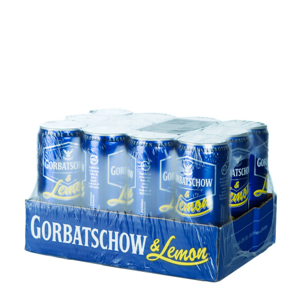 Gorbatschow & Lemon Wodka Mix Dose 12 x 0,33l