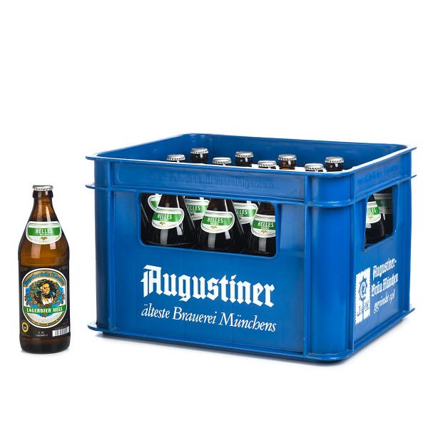 Augustiner Lagerbier hell in der 0,5l Glasflasche