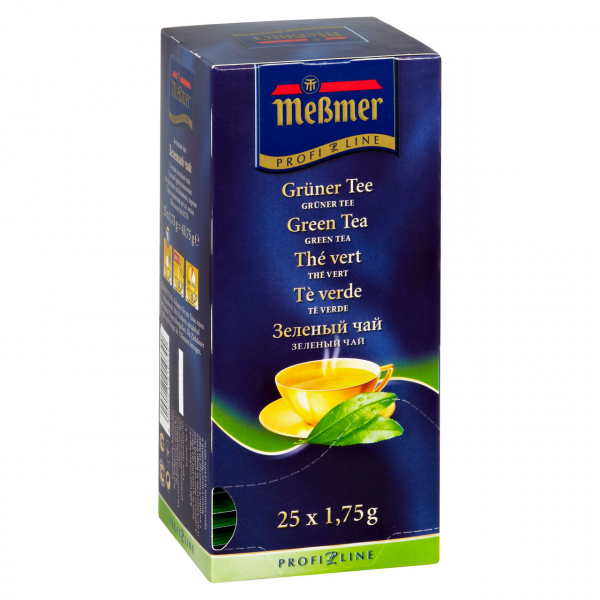 Meßmer Profi-Line Grüner Tee herb-frisch, 25 Teebeutel Packung
