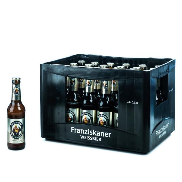 Franziskaner Hefe-Weißbier Hell 24 x 0,33l