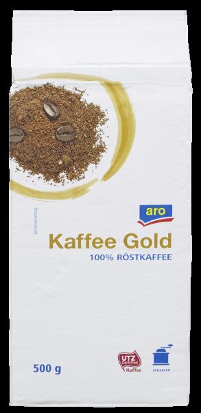 aro Kaffee Gold UTZ - 1 x 500 g Vakuumpackung