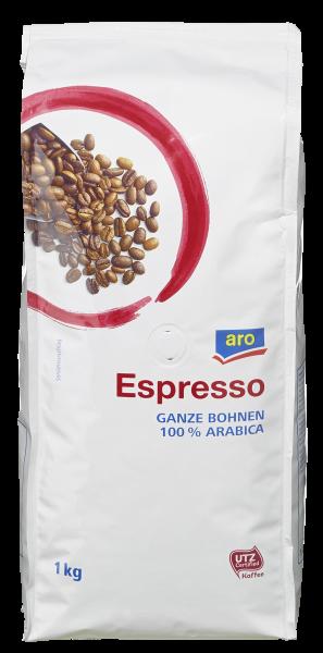 aro Espresso Bohnen UTZ - 1 x 1 kg Beutel