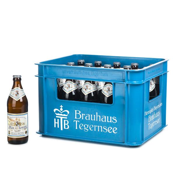 Tegernseer Max Joseph Export in der 0,5l Glasflasche