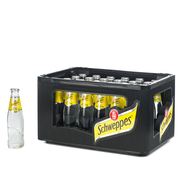 Schweppes Indian Tonic Water in der 0,2l Glasflasche