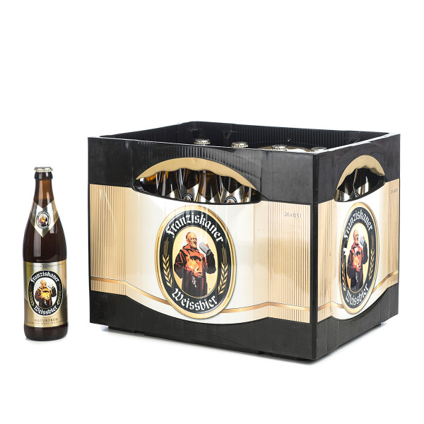 Franziskaner Weißbier in der 0,5l Glasflasche