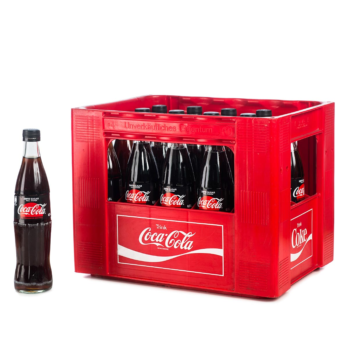 coca cola zero 20 x 0 5l glas online bestellen. Black Bedroom Furniture Sets. Home Design Ideas