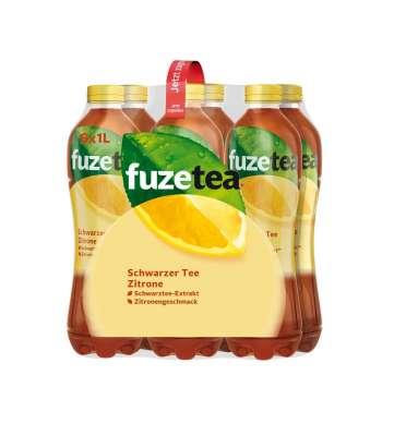 fuze tea schwarzer tee zitrone 6 x 1l pet online bestellen getraenkedienst com
