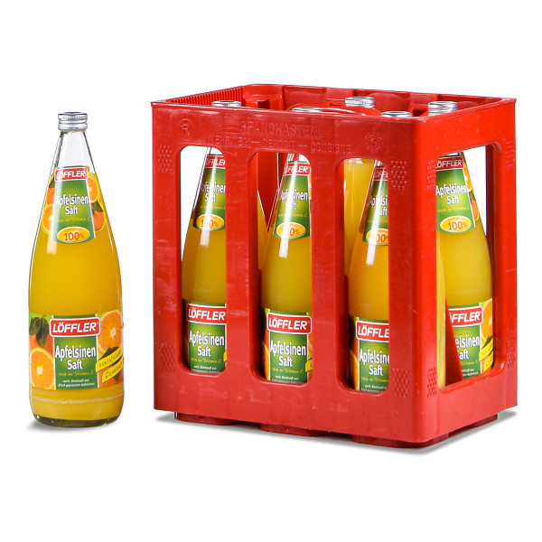 Löffler Apfelsinen-Direktsaft 100% 6 x 1l