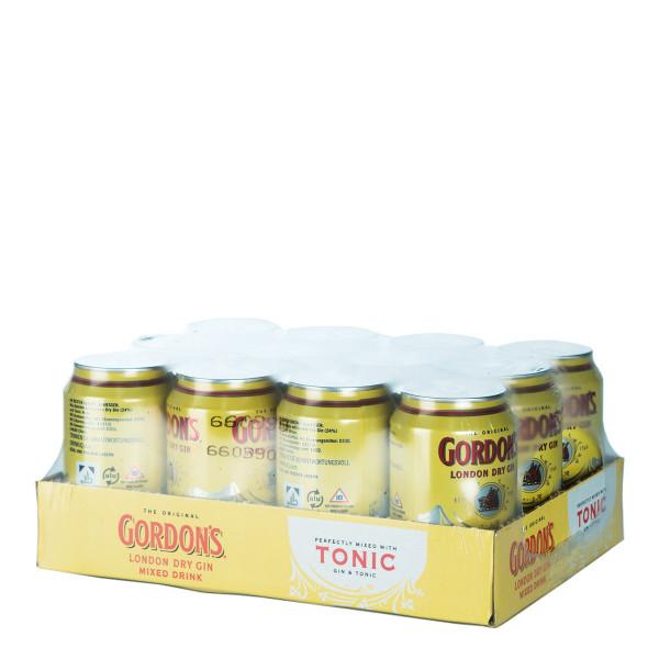 Gordon's London Dry Gin und Tonic Mix 12 x 0,33l