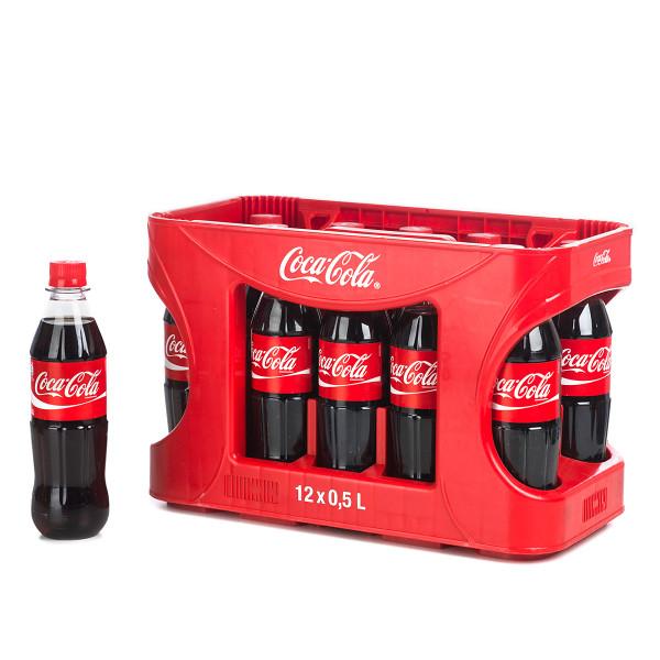 Coca Cola in der 0,5l PET Flasche